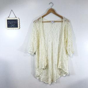 [LuLaRoe] Cream Lace Short Sleeve Cardigan